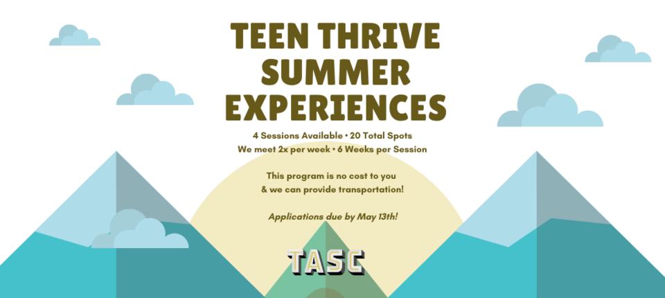Teen Summer Thrive Experiences